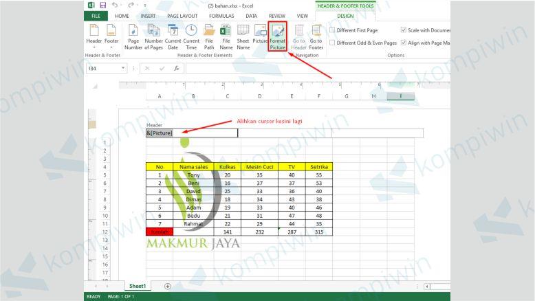 Atur Transparansi Watermark Excel