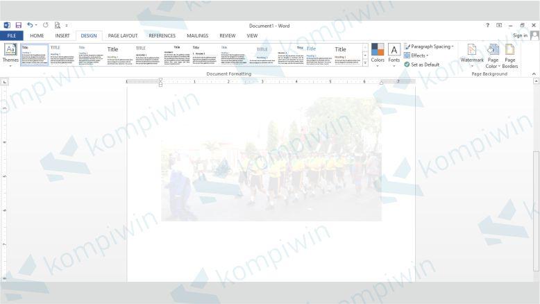 Gambar Transparan Word Sudah Berhasil Dibuat dengan Custom Watermark