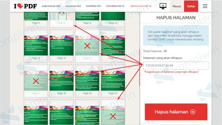Hapus Halaman PDF yang Tidak Diperlukan