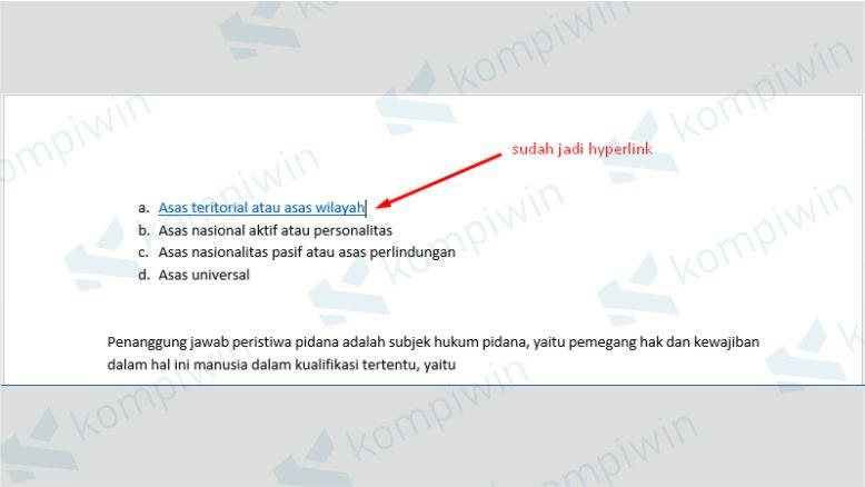 Hyperlink Tautan Dokumen Sudah Jadi