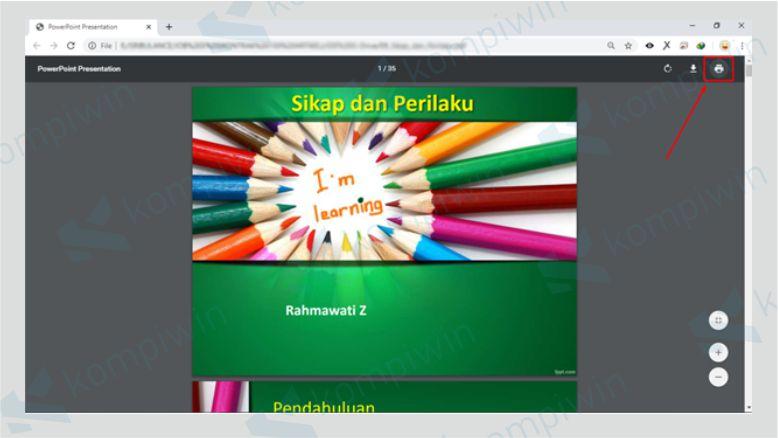 Klik Cetak PDF - Cara Menghapus Halaman PDF