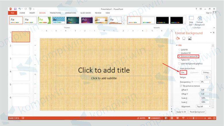 Klik File untuk Mengganti Background dengan Gambar