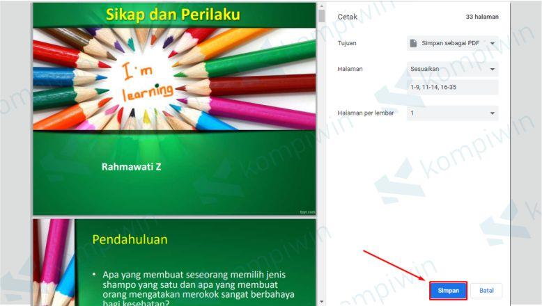 Klik Simpan untuk Menyimpan File PDF dengan Menghilangkan Halaman Tertentu