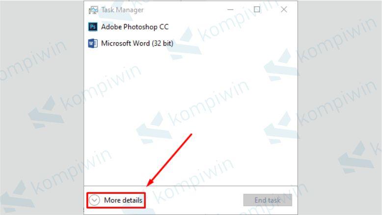 Matikan Aplikasi yang Tidak Digunakan melalui Task Manager