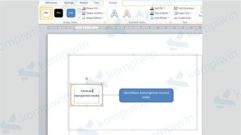 Mengubah Format Desain Flowchart di Word