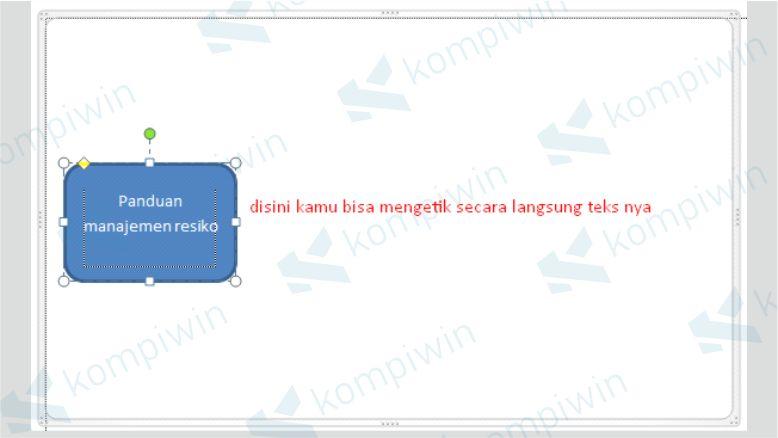 Menyisipkan Teks pada Bagan Flowchart