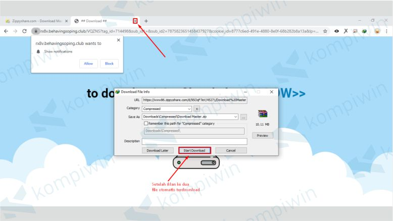 Mulai Download File dari Zippyshare