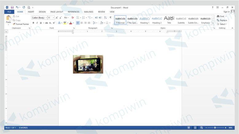 Tekan Enter dan Gambar Akan Tercrop Sesuai Sisi yang Ditentukan