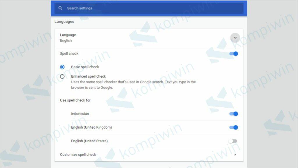 Atur Pengaturan Bahasa pada Google Chrome