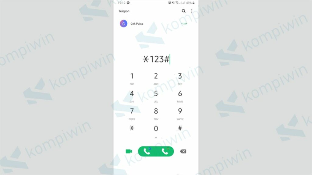 Buka Menu Dial Up - Memperpanjang Masa Aktif XL dengan Transfer Pulsa