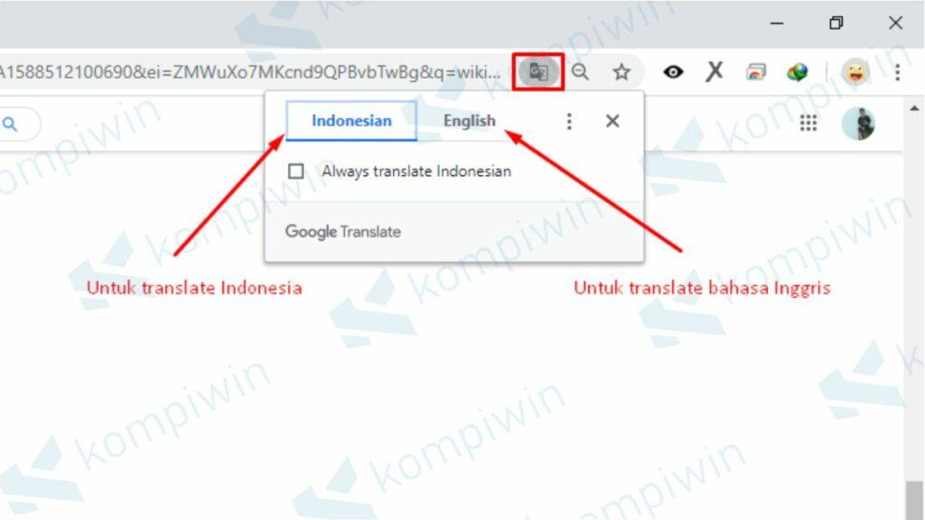 Cara Translate Web dengan Chrome di PC