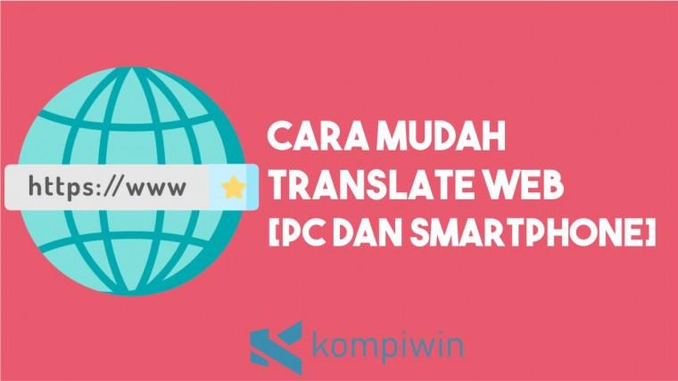 Cara Translate Web dengan Mudah