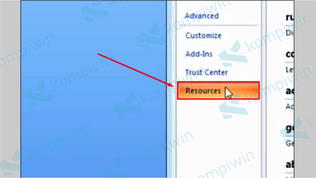 Cari Menu Resources - Update Word 2007