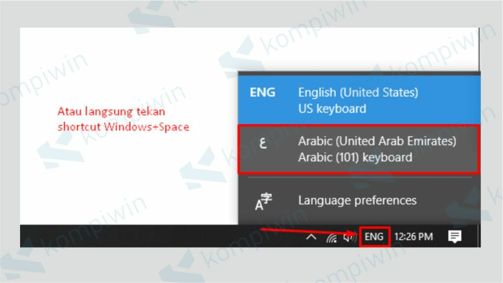 Ganti Pengaturan ke Bahasa Arab - Cara Menulis Arab di Word