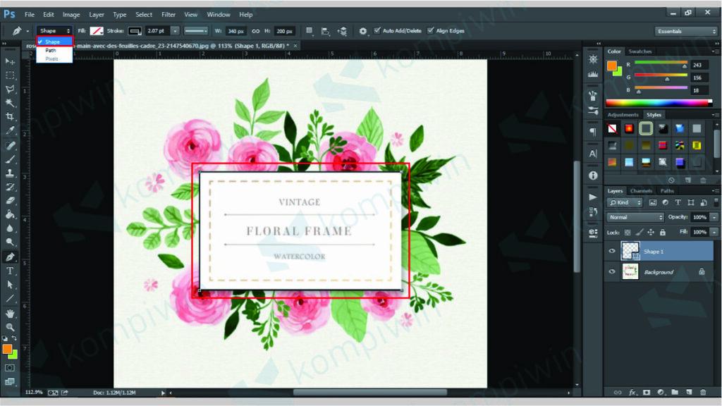 Gunakan Pen Tool untuk Menyeleksi Objek - Menghapus Background di Photoshop