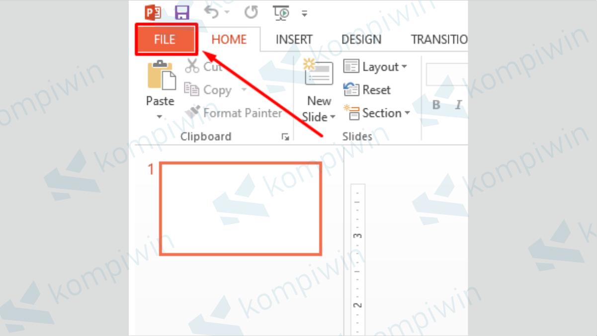 Klik Menu File - Cara Mengubah PPT Menjadi Gambar
