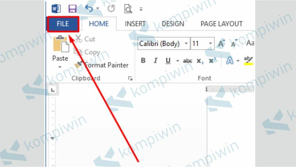 Klik Menu File - Cara Update Office 13 dan 16 ke Versi Terbaru