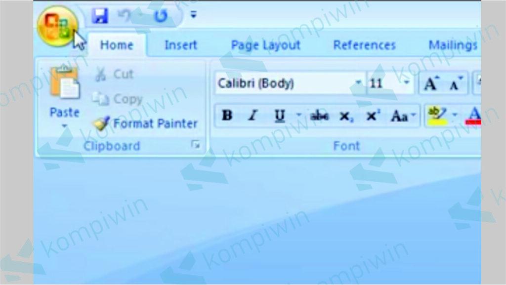 Klik Menu Pojok Kiri Atas Word 2007 - Cara Mudah Update Office Terbaru