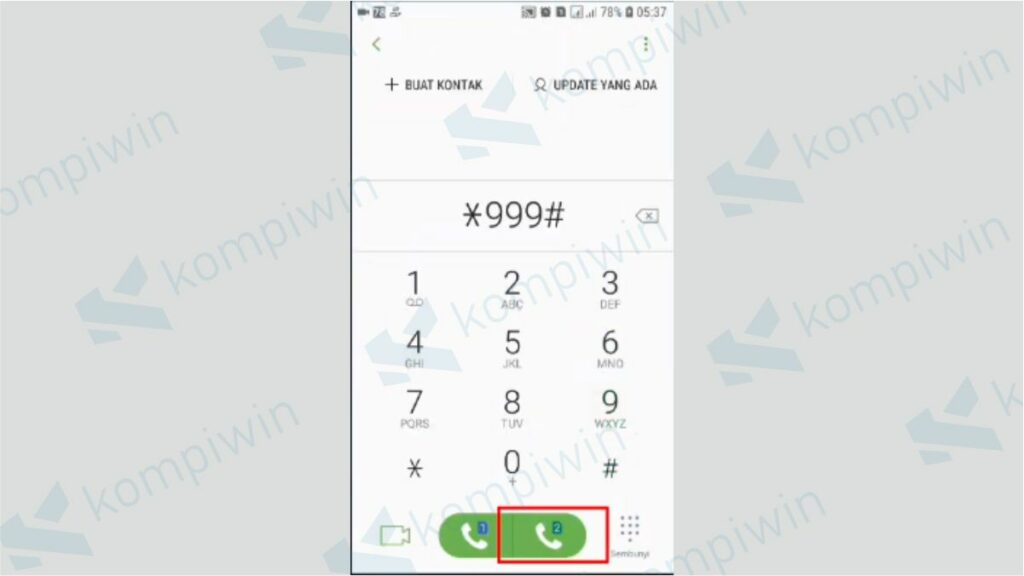 Klik Panggilan pada Ponsel - Cara Memperpanjang Masa Aktif Telkomsel melalui Dial Up