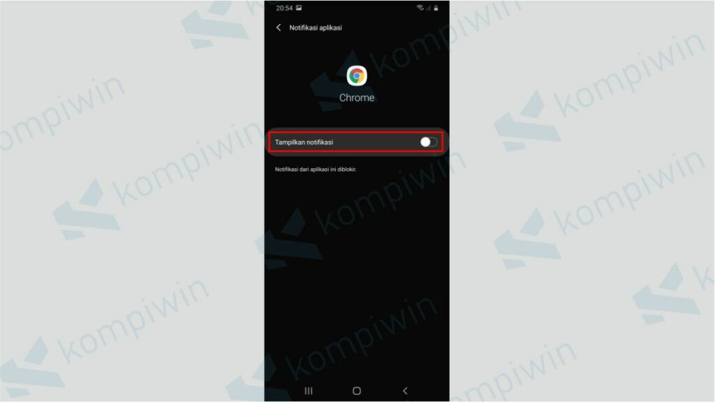 Notifikasi Chrome Dinonaktifkan secara Keseluruhan