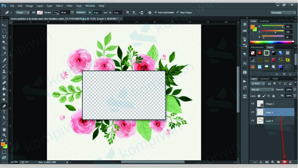Pindahkan Objek Seleksi ke Dokumen Baru - Menghilangkan Latar Belakang Gambar di Photoshop