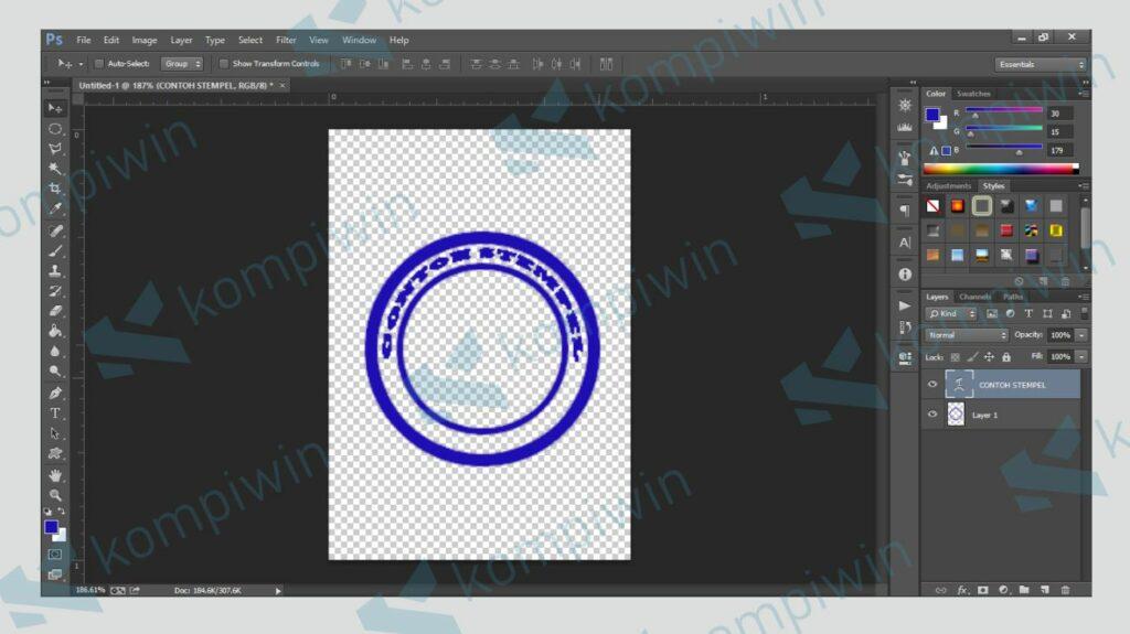 Stempel Sudah Jadi Tinggal Menambahkan Logo - Kompiwin
