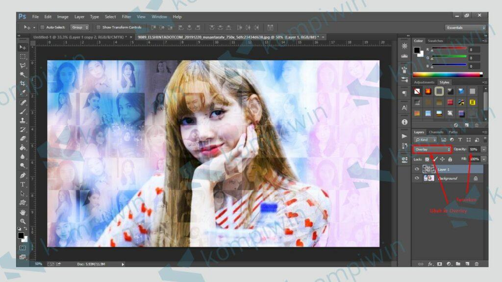 Ubah Background ke Overlay - Kompiwin