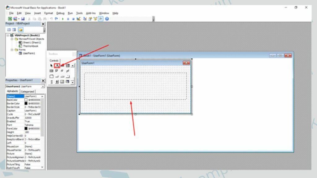 Buat Label di UserForm - Cara Membuat Running Text di User Form Excel