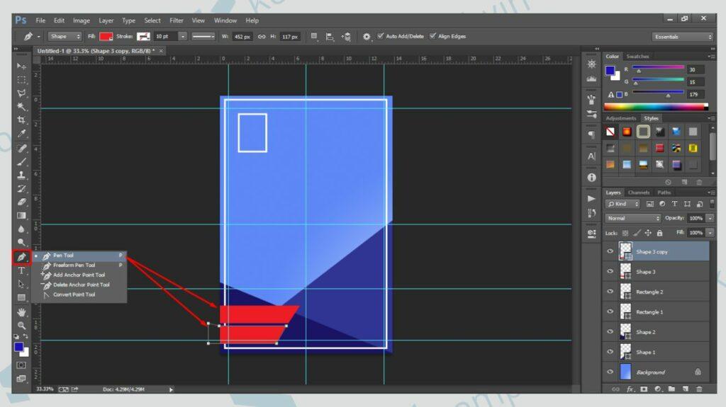Buat Text Box untuk Konten Poster - Cara Membuat Poster di Photoshop