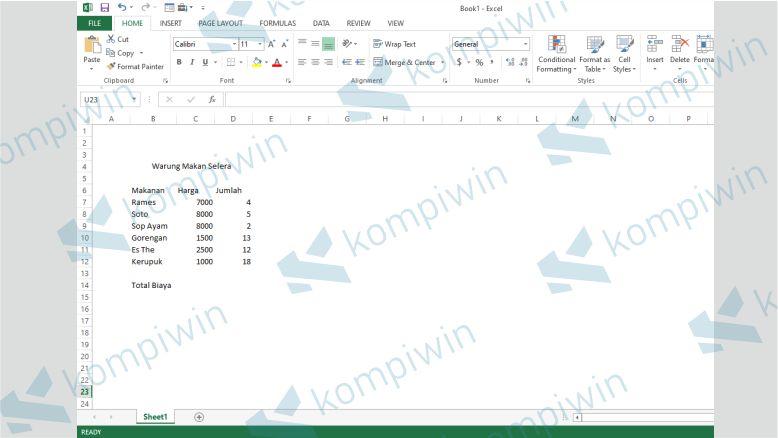 Buka File Excel - Cara Menghitung Total Bayar Di Excel