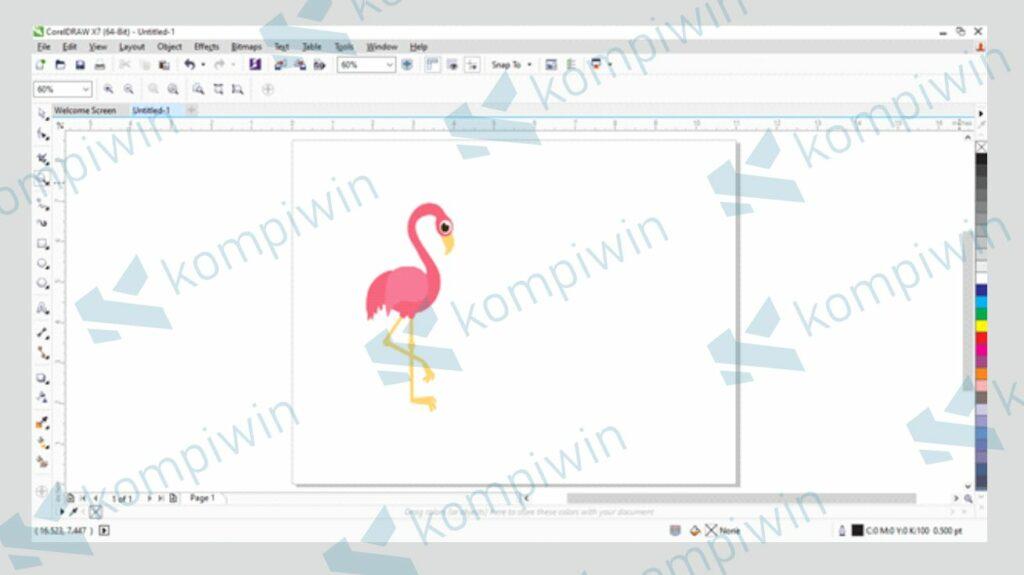Buka Gambar yang Akan Dibalik di CorelDraw - Cara Membalik Gambar di Corel