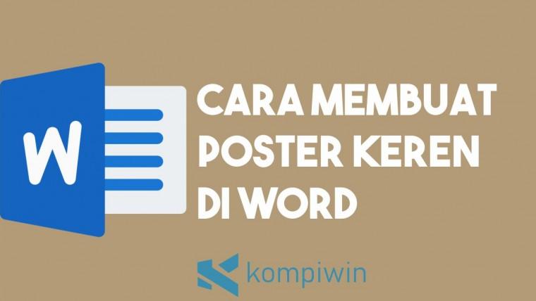 Cara Membuat Poster di Word