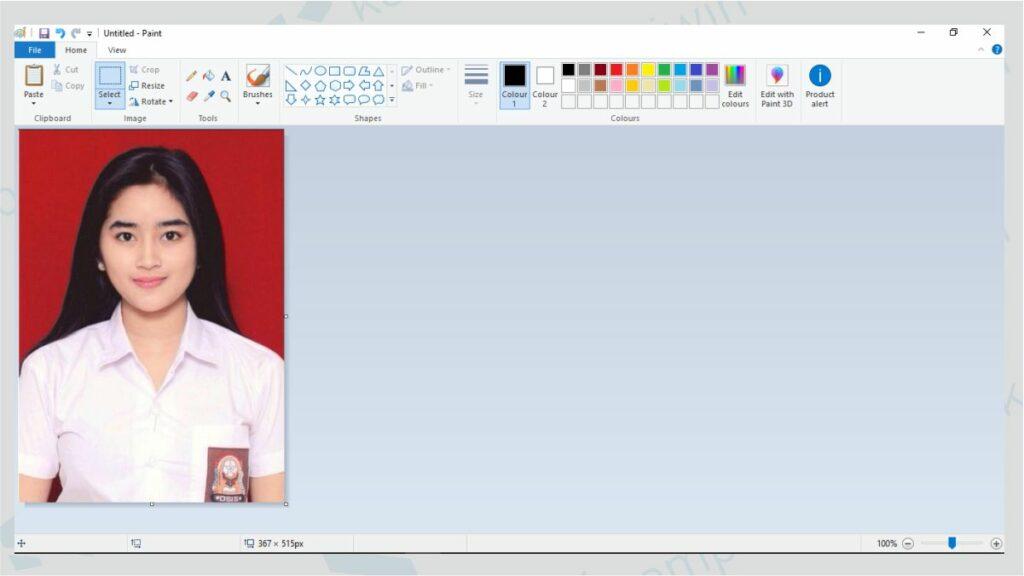 Cara Membuat Ukuran Foto 3x4 Di Paint