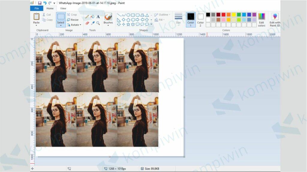 Gandakan Foto di Paint - Cara Membuat Ukuran Foto 3x4 di Paint