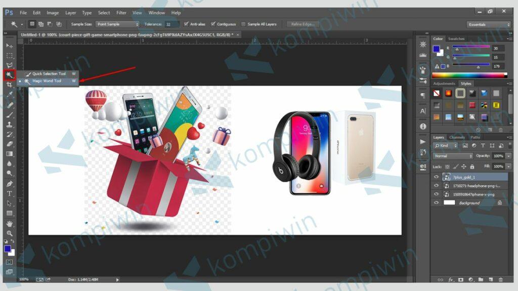 Cara Membuat Banner di Photoshop 4
