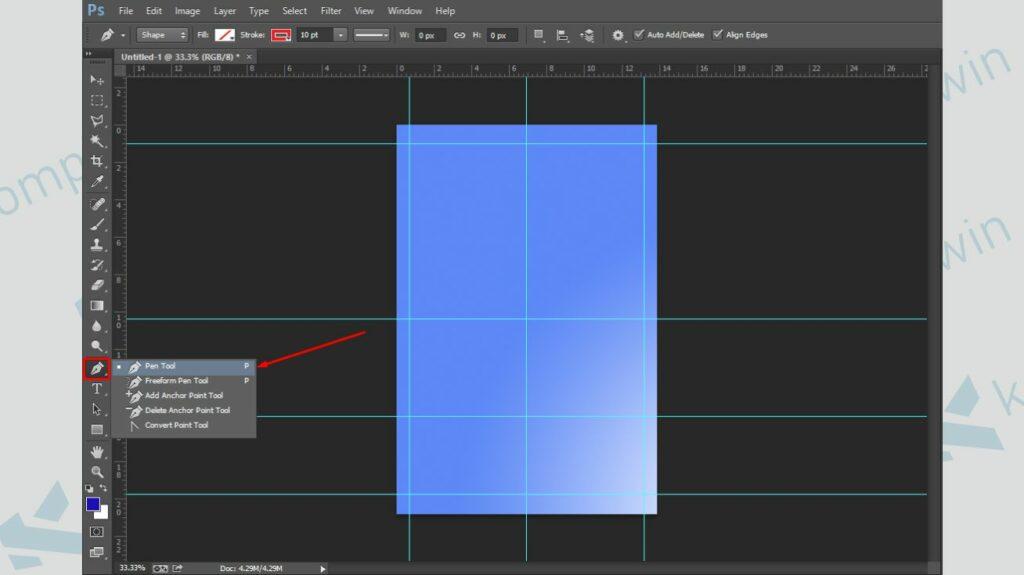 Gunakan Pen Tool untuk Membuat Bentuk - Cara Membuat Poster di Photoshop