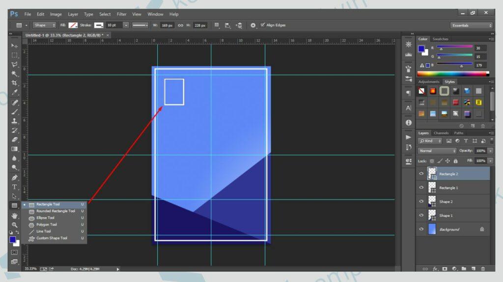 Hias Bentuk Poster - Cara Membuat Poster di Photoshop