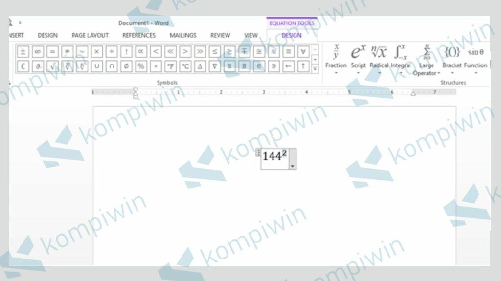 Isi Kotak dengan Bilangan dan Pangkat - Cara Membuat Pangkat di Word