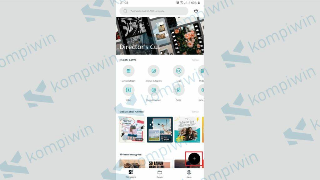 Klik Icon + untuk Mulai Membuat Twibbon - Cara Membuat Twibbon dengan Canva