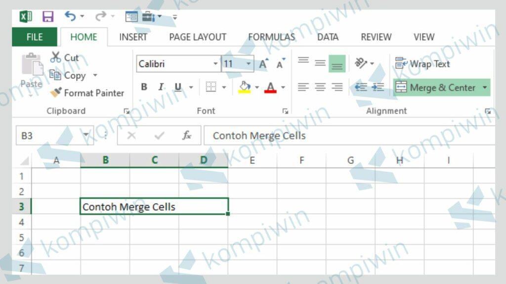 Kolom Merge Cells - Fungsi Merge dan Unmerge Cells