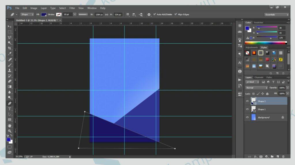 Kreasikan Bentuk Poster - Cara Membuat Poster di Photoshop