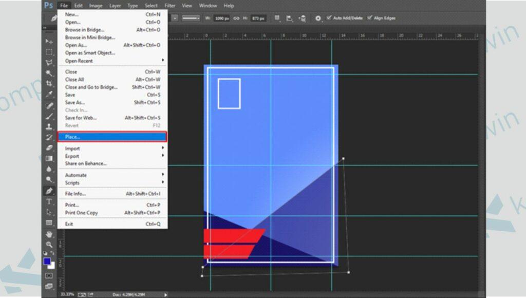 Masukkan Obyek Gambar ke Poster - Cara Membuat Poster di Photoshop