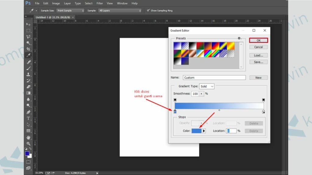 Mulai Ganti Background - Cara Membuat Poster di Photoshop