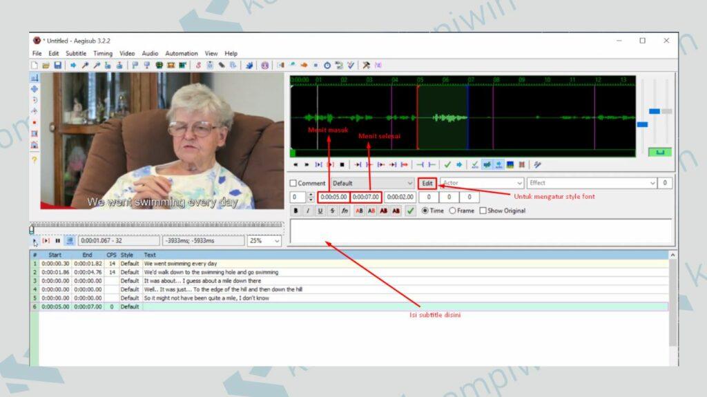 Mulai Membuat Subtitle - Cara Membuat Subtitle dengan AegiSub