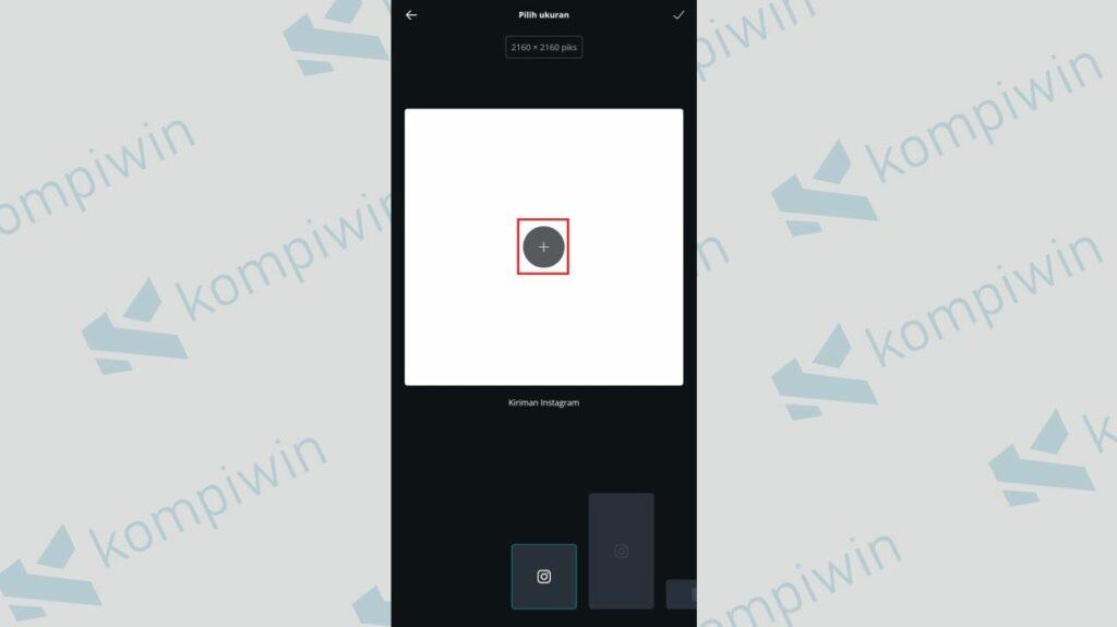 Pilih Ukuran - Cara Menggabungkan Twibbon dengan Foto menggunakan Canva
