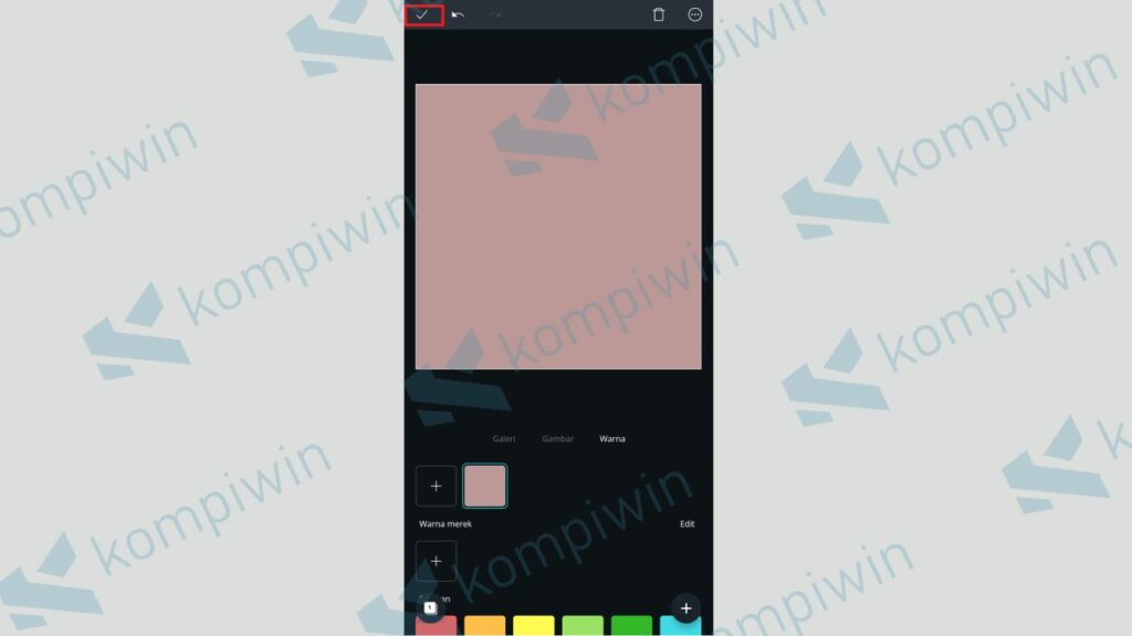 Pilih Warna Background Sesuai Selera - Cara Membuat Twibbon dengan Canva