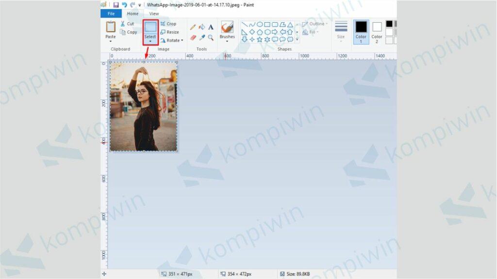 Select Ukuran Foto 3x4 di Paint - Cara Cetak Foto Ukuran 3x4 di Paint