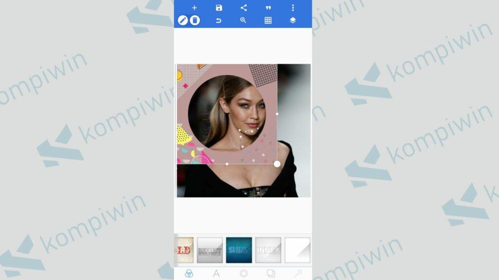 Sesuaikan Ukuran Twibbon dengan Foto - Cara Menggabungkan Twibbon dengan Foto menggunakan PixelLab