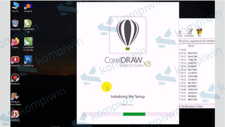 Tunggu Hingga Installan Corel X8 Berjalan - Cara Mengatasi Corel X8 Tidak Bisa di Install