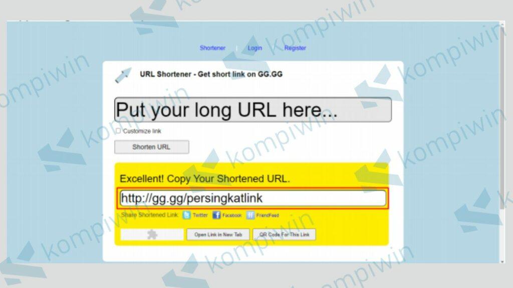 Tunggu Proses Shorten Url dengan gg.gg - Kompiwin